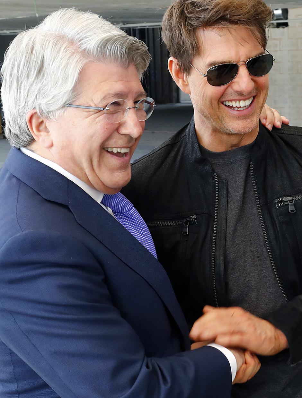 Visita Tom Cruise y equipo de La Momia al Wanda Metropolitano | Enrique Cerezo