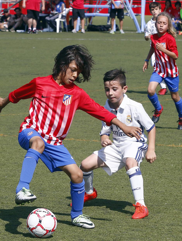 El Atlético de Madrid Prebenjamín A ganó al Real Madrid en la final del Torneo de Campeones