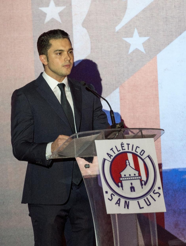 Presentación Atlético de San Luis 2017-2018. Alberto Marrero