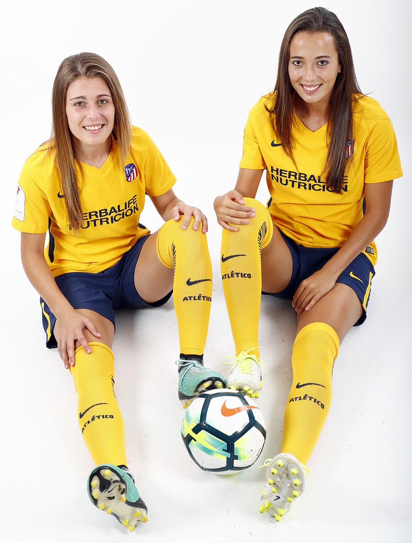 Temp. 17-18 | Sesión de fotos Atlético de Madrid Femenino. Menayo y Cazalla