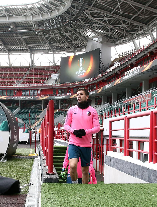 Temp. 17-18 | Entrenamiento en Rusia previo al Lokomotiv-Atleti | Gabi