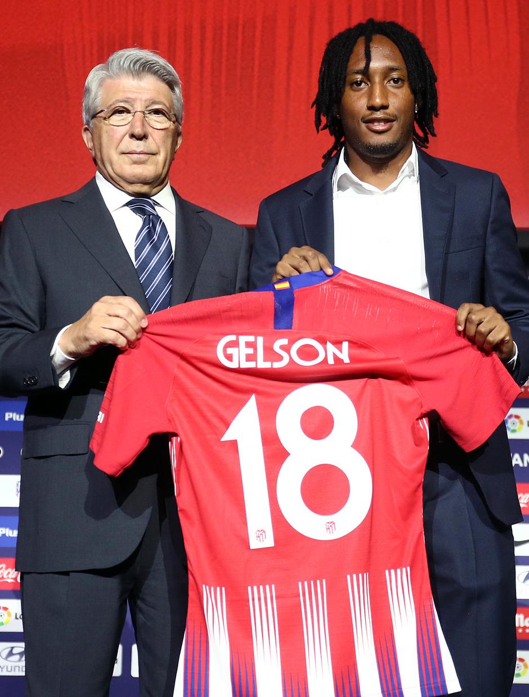 temporada 18/19. Presentación Gelson Martins en el Wanda Metropolitano y Enrique Cerezo