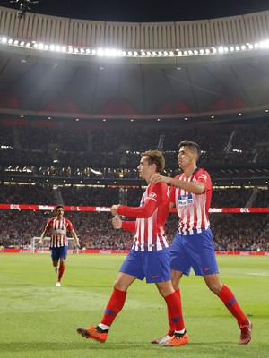 Temporada 2018-2019   Atlético de Madrid - Rayo Vallecano   Gol Griezmann