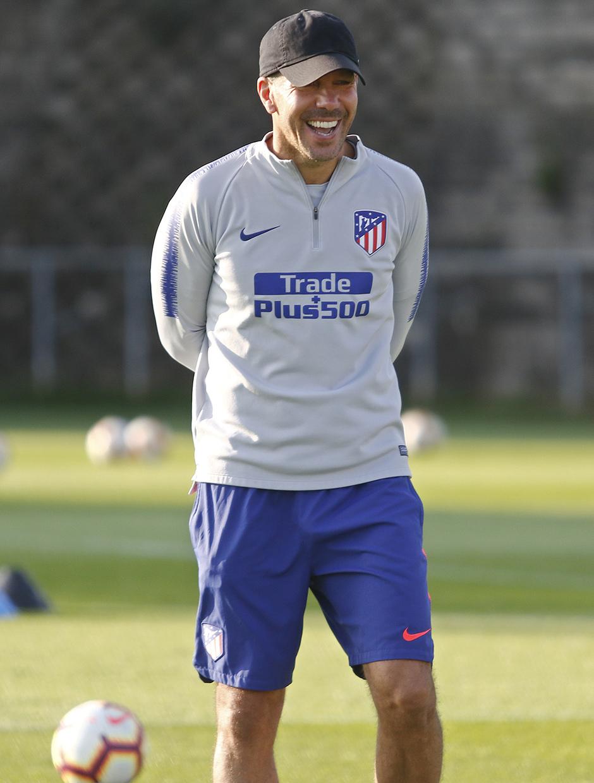 Temporada 18/19. Entrenamiento en la ciudad deportiva Wanda Atlético de Madrid. 07_09_2018. Simeone