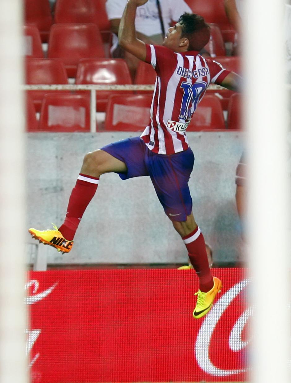 Temporada 13/14 Sevilla-Atlético de Madrid Diego Costa saltando tras su segundo tanto