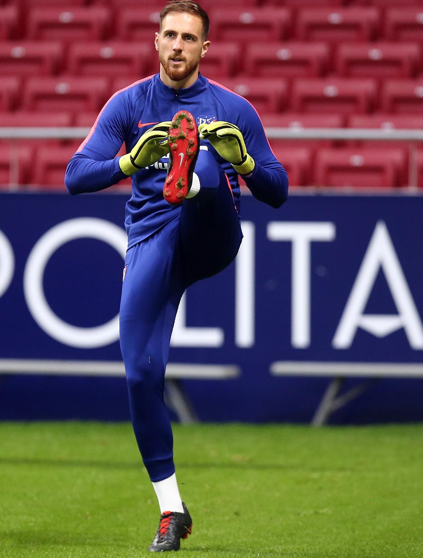 temporada 18/19. Entrenamiento en el Wanda Metropolitano. Oblak durante el entrenamiento