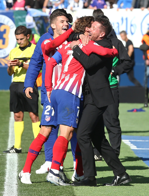 Temporada 2018-2019   Leganés - Atlético de Madrid   Celebración gol Griezmann