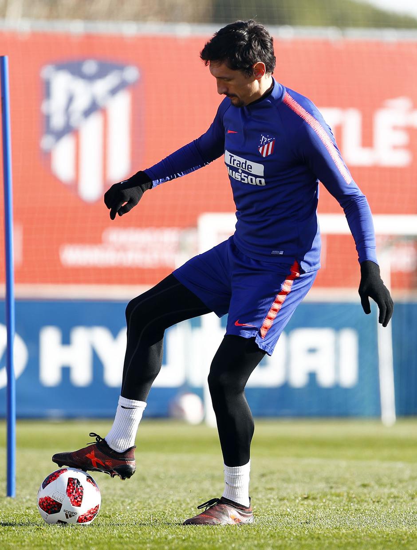 Temporada 18/19. Entrenamiento en la ciudad deportiva Wanda Atlético de Madrid. 04_12_2018. Savic.