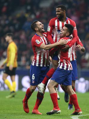 Temporada 18/19 | Atleti - Sant Andreu | celebración gol Lemar