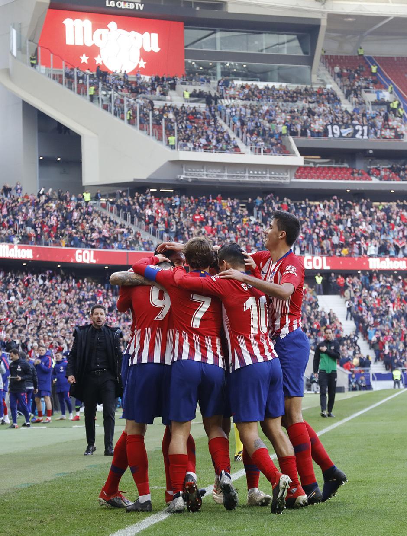 Temporada 2018-2019 | Atlético de Madrid - Alavés | Celebración gol grupo