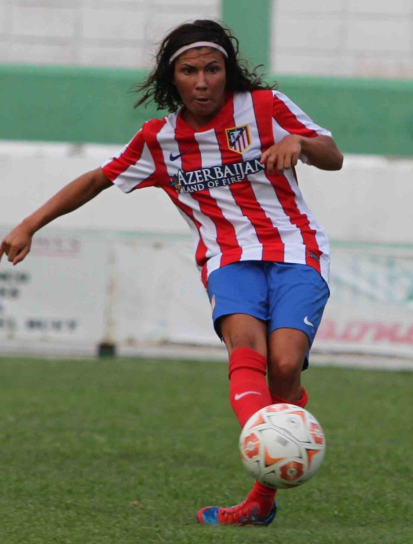 Temporada 2013-2014. Ana Borges marca el primer gol ante el Sevilla F.C.
