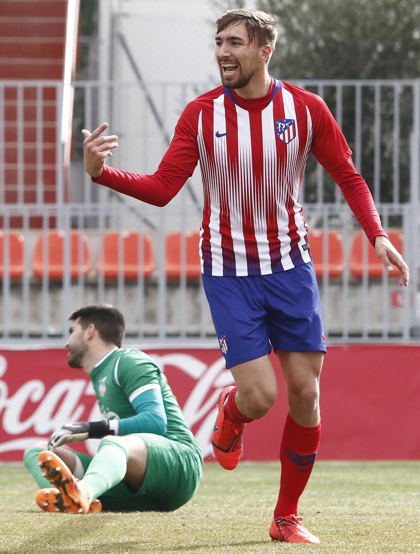 Temporada 18/19 | Atlético de Madrid B - Navalcarnero | Celebración Darío Poveda