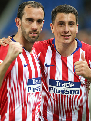 Temporada 18/19   Real Sociedad - Atlético de Madrid   Godín y Giménez