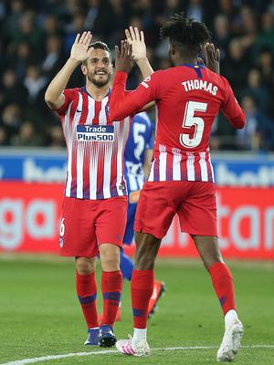 Temporada 18/19   Alavés - Atlético de Madrid   Koke y Thomas celebración