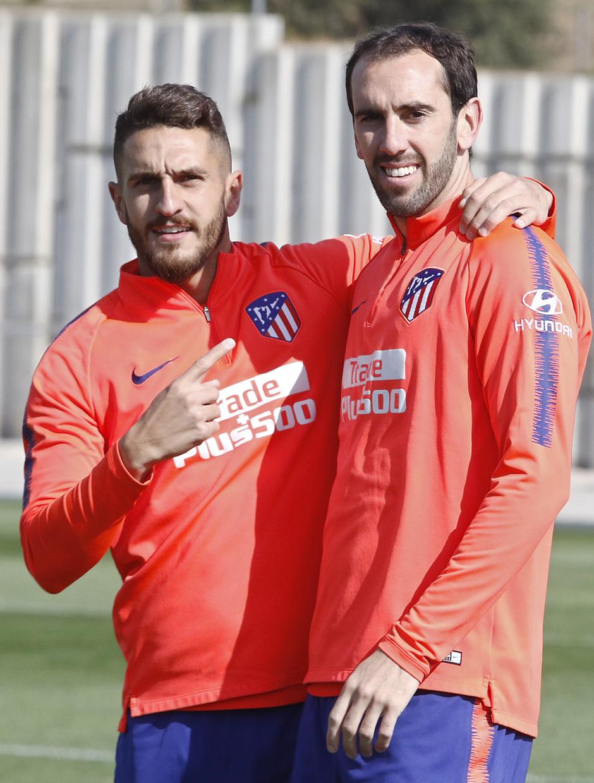 Temporada 18/19 | Entrenamiento del primer equipo | 03/04/2019 | Godín y Koke