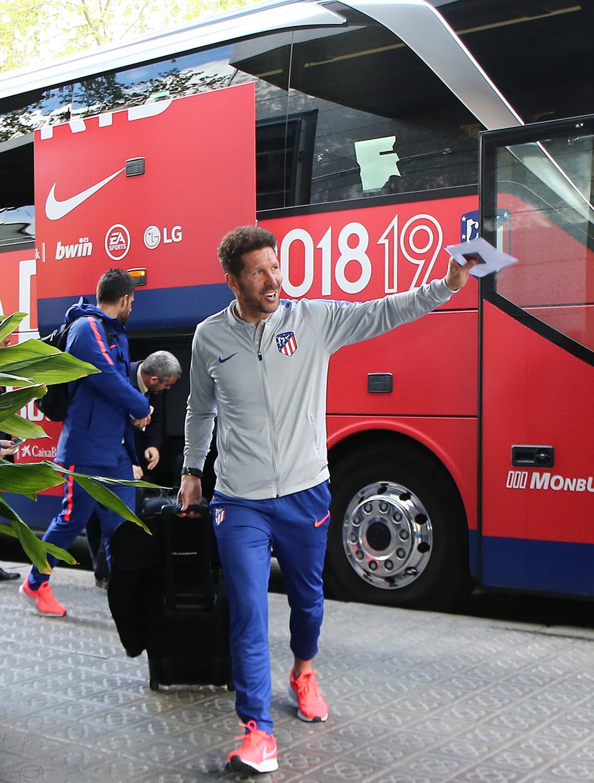 Temporada 18/19 | FC Barcelona - Atlético de Madrid | Llegada | Simeone