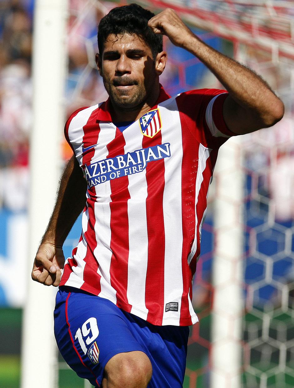 Temporada 2013/ 2014 Atlético de Madrid - Almería Diego Costa festejando su tanto