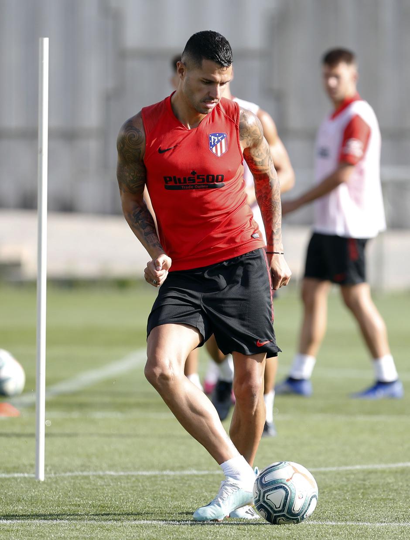 Entrenamiento en la Ciudad deportiva Wanda Atlético de Madrid 03-09-2019. Vitolo.