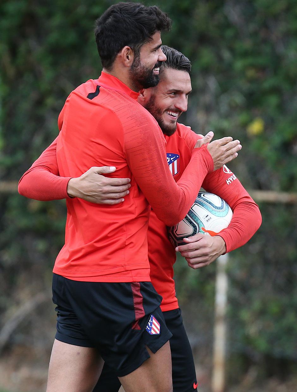 Temp.2019-2020. Entrenamiento del primer equipo. Ciudad Deportiva Wanda. 13/09/2019. Koke y Costa