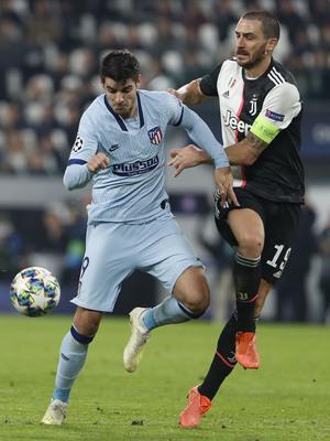 Temp. 19/20. Liga de Campeones. Juventus-Atlético de Madrid. Morata