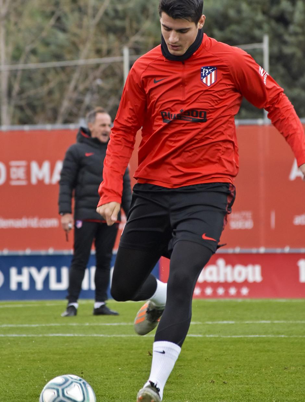 Temporada 19/20. Entrenamiento en la ciudad deportiva Wanda | Morata