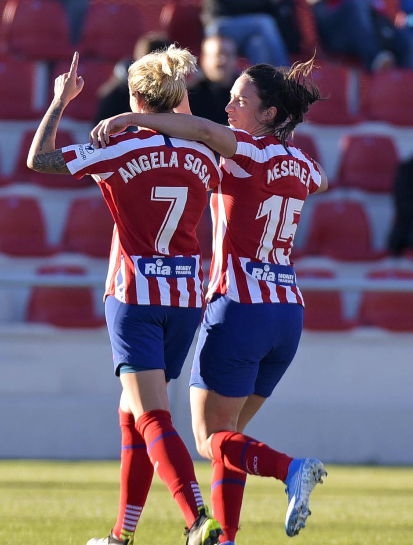 Temporada 19/20 | Atlético de Madrid Femenino - Sporting de Huelva. Ángela Sosa y Meseguer