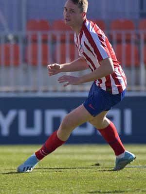 Temp 19/20 | Atlético de Madrid B - Marino de Luanco | Celebración Borja Garcés
