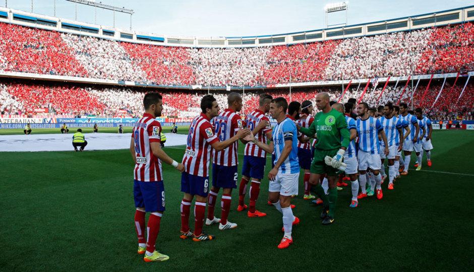 Temporada 13/14 Liga BBVA Atlético de Madrid - Málaga. Presentación de jugadores.