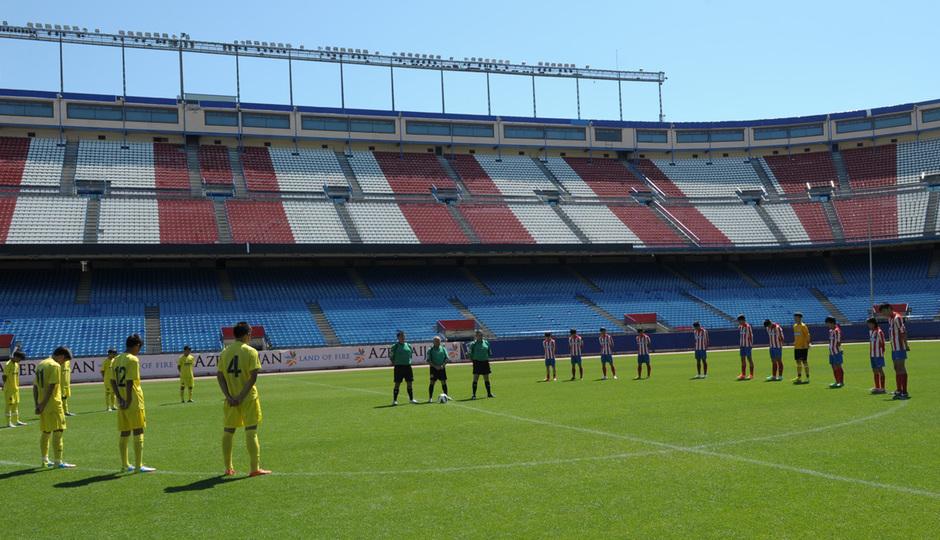 Proyecto Wanda. Partido Atlético de Madrid - Villarreal. Minuto de silencio. Foto: Mónica Llanos
