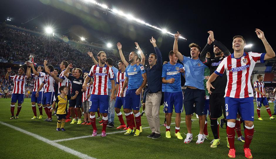 temporada 14/15 . Partido Atlético de Madrid Real Madrid. Supercopa de España.
