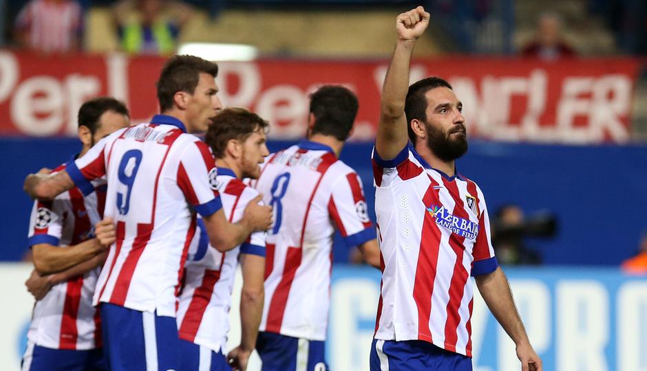 Temporada 14-15. Atlético-Juventus. Arda celebra su gol.