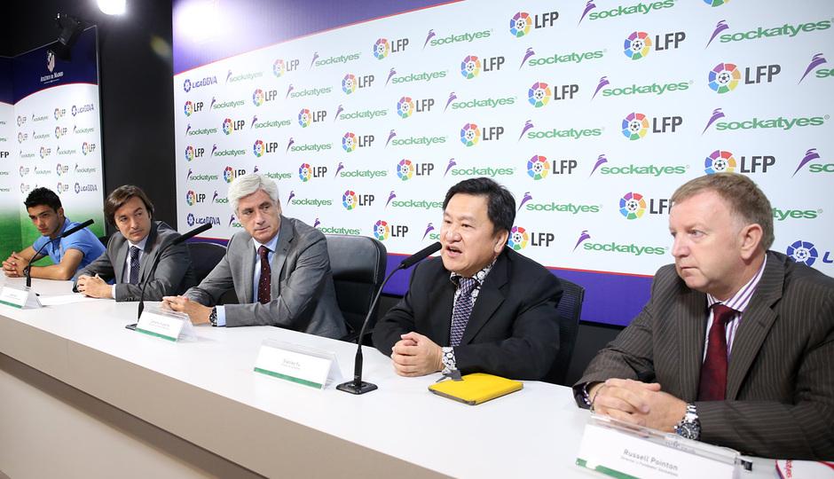 Acto de patrocinio con la LFP