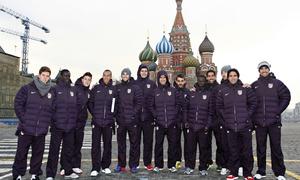 UEFA Europa League 2012-13. Los convocados posan en la Plaza Roja de Moscú