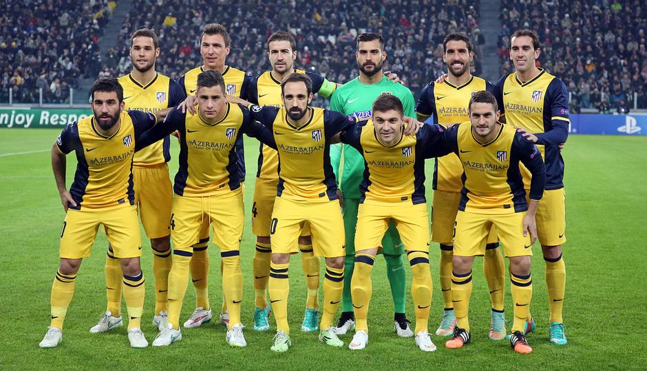 Temporada 14-15. Champions League. Juventus - Atlético de Madrid. El once inicial en Turín.