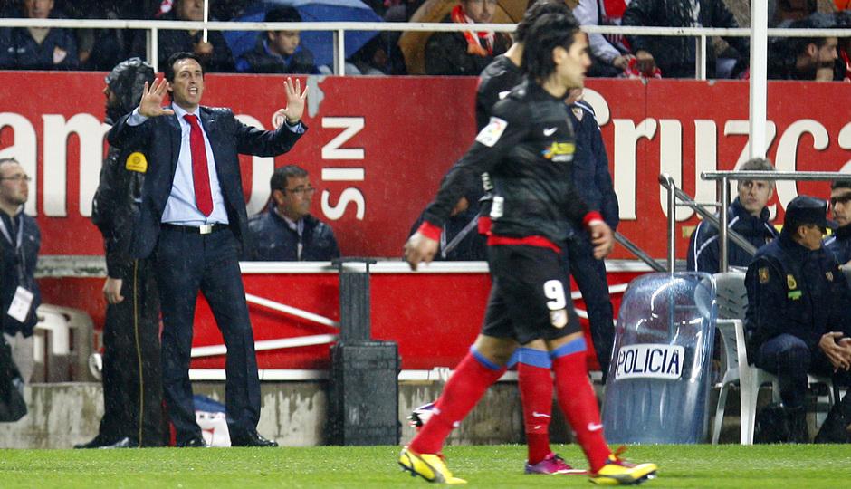 Emery en el partido de vuelta de Copa en Sevilla