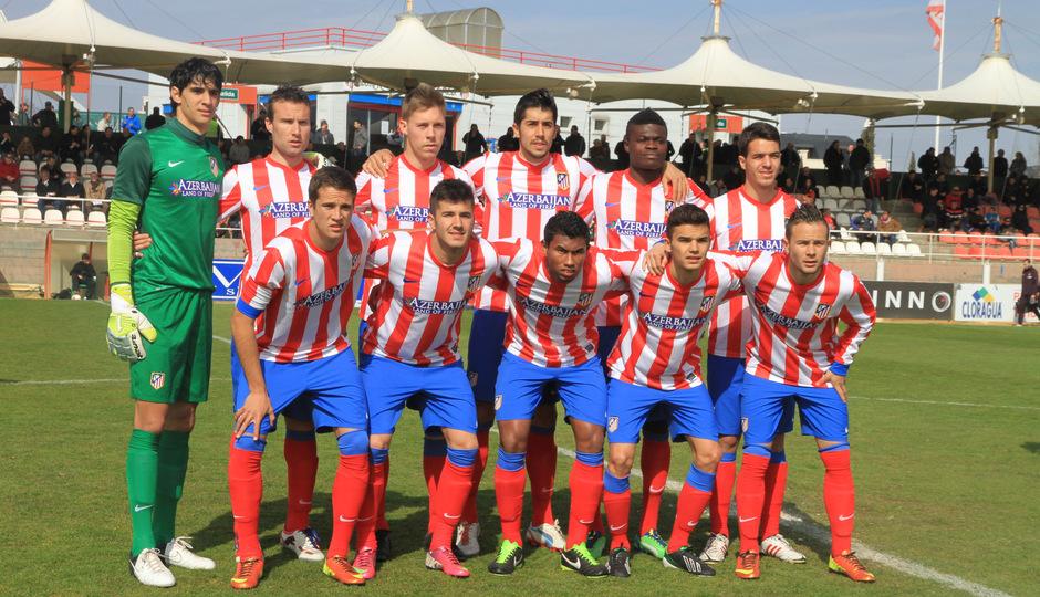 Temporada 2012-13. Atlético de Madrid B. Once ante el Tenerife.