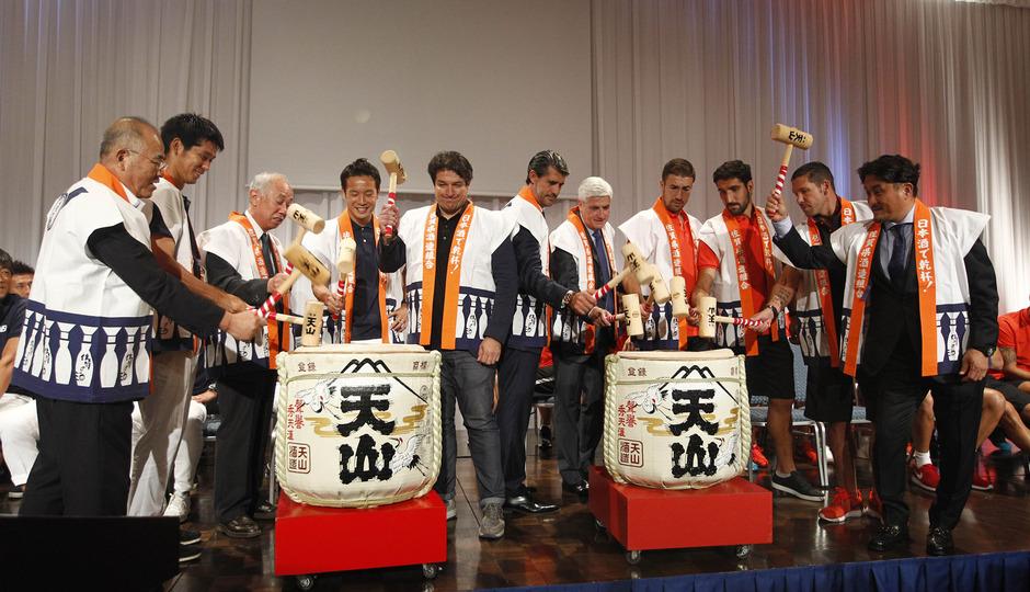 Acto de bienvenida en Japón