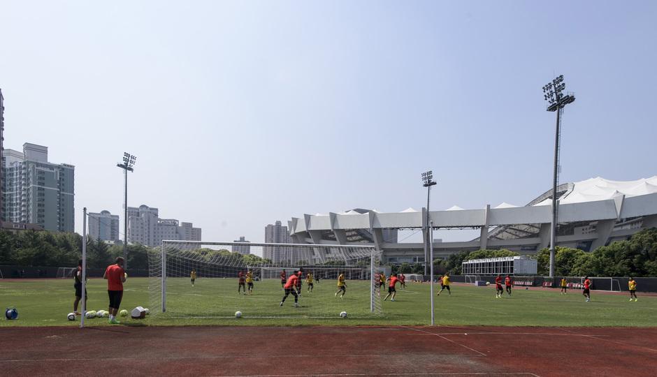 Entrenamiento en Shanghai