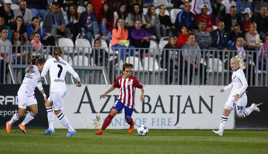 Partido de ida de los 1/16 de final de la Women's Champions League. Atlético de Madrid Féminas - Zorky.