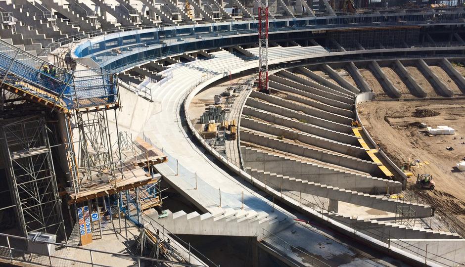 Imagen del Nuevo Estadio tomada el 17 de octubre de 2015