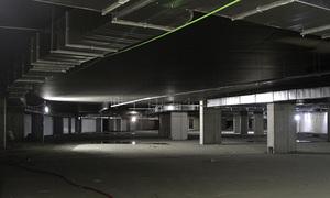 Vista general del estado de las obras en el aparcamiento de la zona VIP del Nuevo Estadio