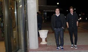 Fallecimiento Miguel San Román. Fernando Torres, en el tanatorio