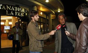 Fallecimiento Miguel San Román. Luiz Pereira habla con la prensa