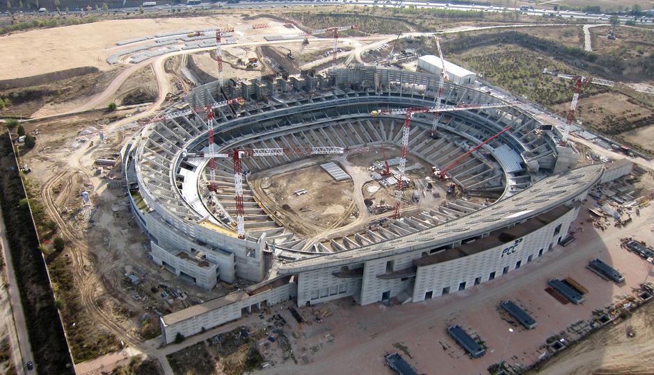 Nuevo estadio. Vista aérea general