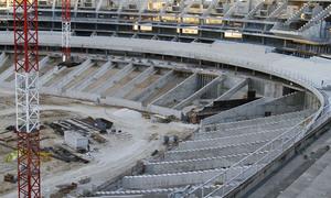 Nuevo estadio. Aspecto del fondo sur desde la grada oeste