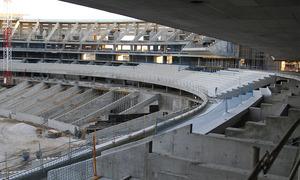 Nuevo estadio. Vista desde el Palco de Honor