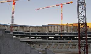 Nuevo estadio. Aspecto del córner nordeste