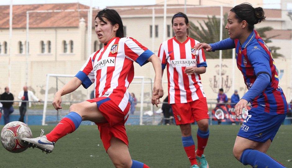 Temporada 2012-2013. Mitsue durante el partiddo ante el Levante UD