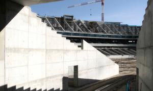 Nuevo estadio. Panorámica desde túnel noroeste de acceso al terreno de juego