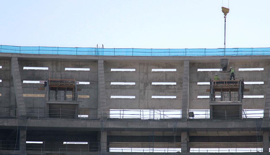 Nuevo estadio. Construcción vomitorios de la grada alta